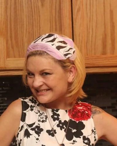 Easy DIY Headband to Keep Hair Back To Apply Makeup