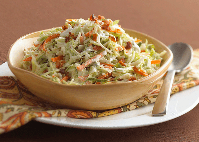 Ranch-Style Coleslaw with Bacon