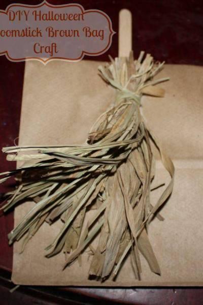 Halloween Broomstick Brown Bag Craft