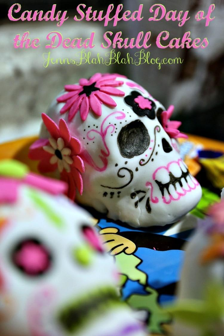 Candy Stuffed Day of the Dead Sugar Skull Cakes