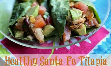 Easy & Healthy Santa Fe Tilapia Lettuce Wrap