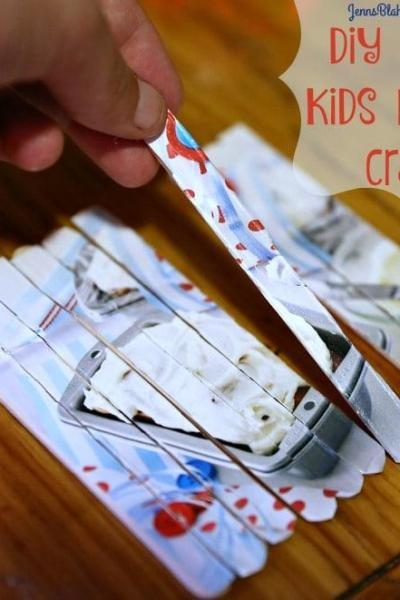 Kids Crafts   How To Make a Kids Popsicle Stick Puzzle