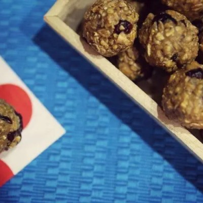 Easy to make no bake granola peanut butter balls with chia seed