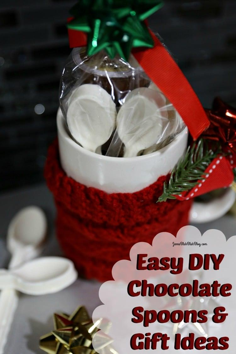 Diy white chocolate spoons coffee mug gift idea jenns for Quick easy gift ideas