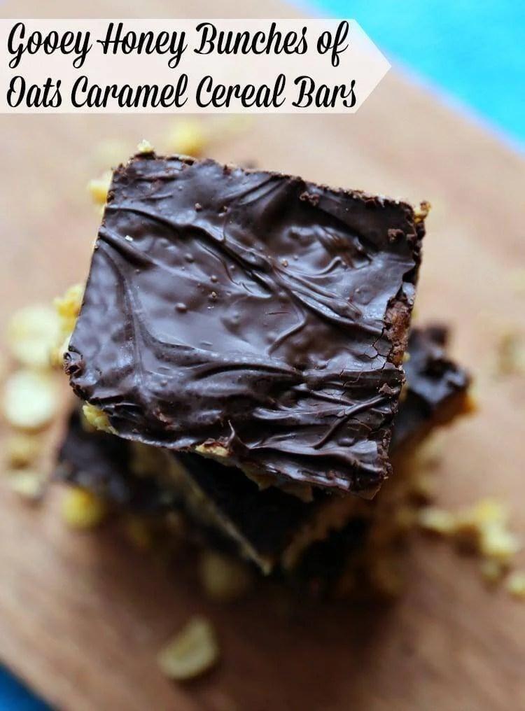 Gooey Honey Bunches of Oats Caramel Cereal Bars Recipe