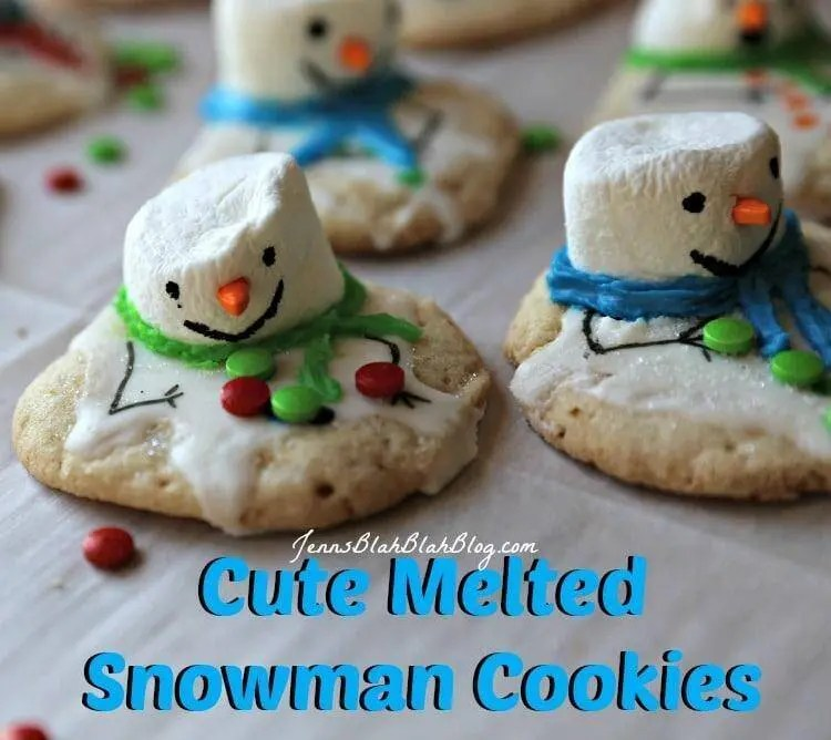 How to make melted snowman cookies for Christmas