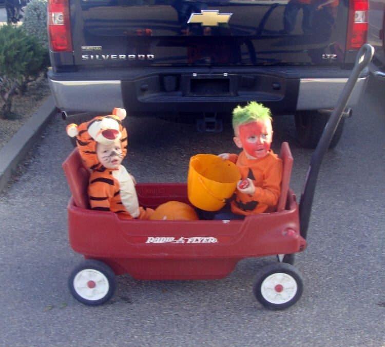 Mattie and Corbin Halloween