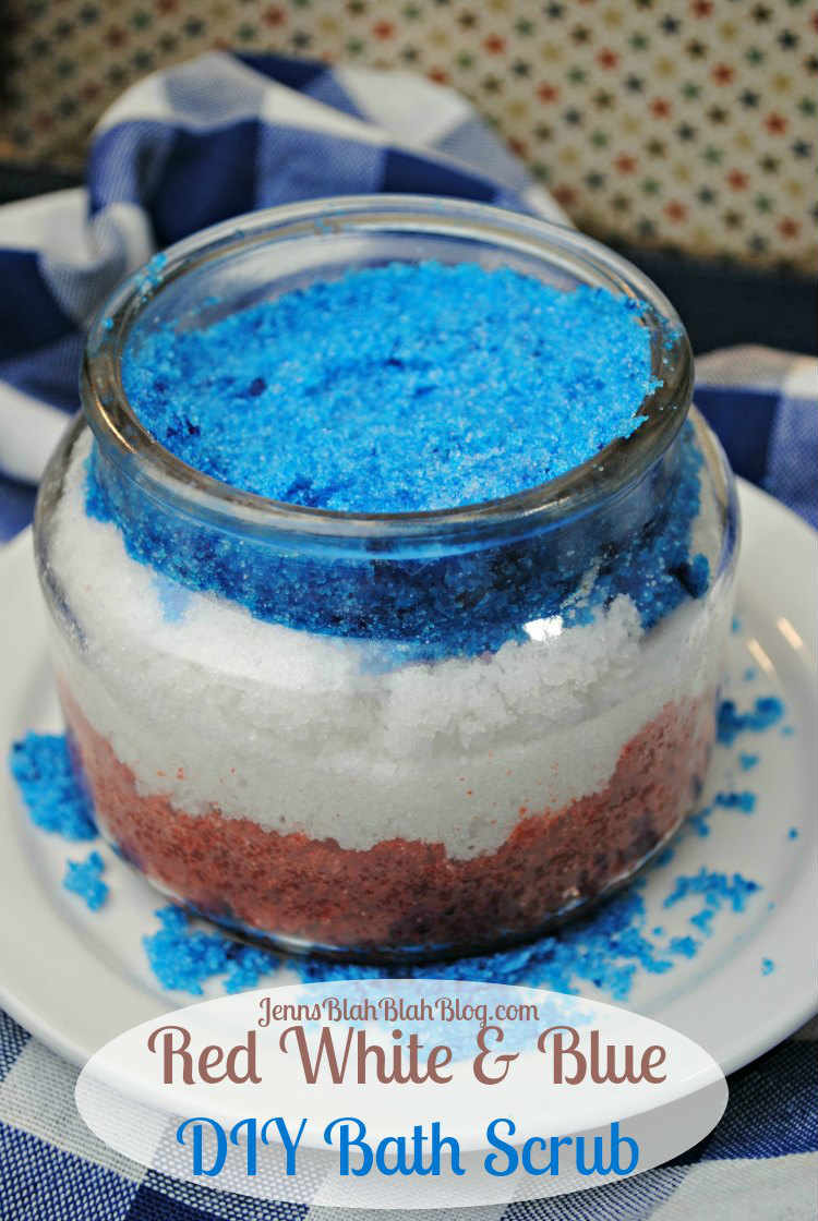 RED WHITE & BLUE DIY BATH SCRUB