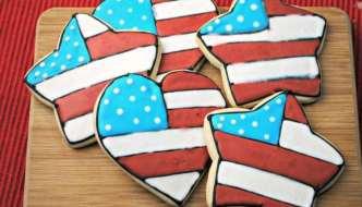 Red White & Blue Sugar Cookies Recipe