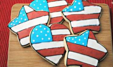 Red White & Blue Sugar Cookies Recipe
