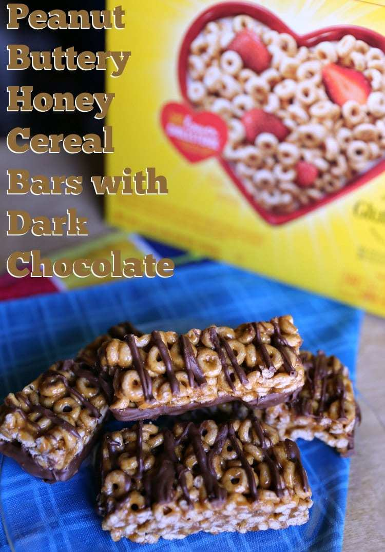 Peanut Buttery Honey Cereal Bars with Dark Chocolate easy recipe
