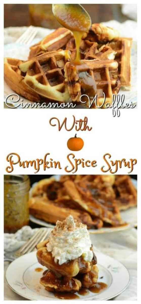 Cinnamon Waffles with Pumpkin Spice Syrup