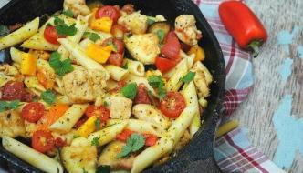 Chicken & Eggplant Skillet Pasta Recipe | Great Fall Recipe