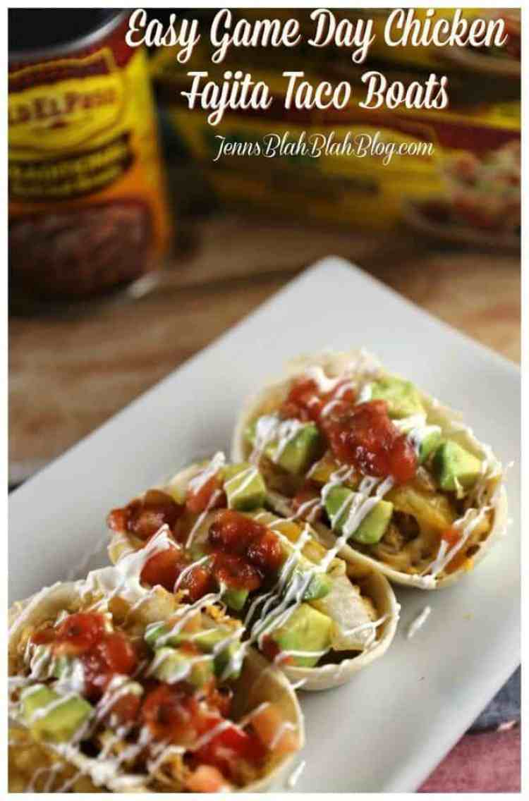 Easy Game Day Chicken Fajita Taco Boats