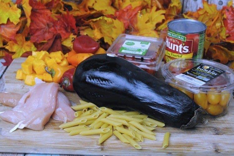 chicken eggplant pasta