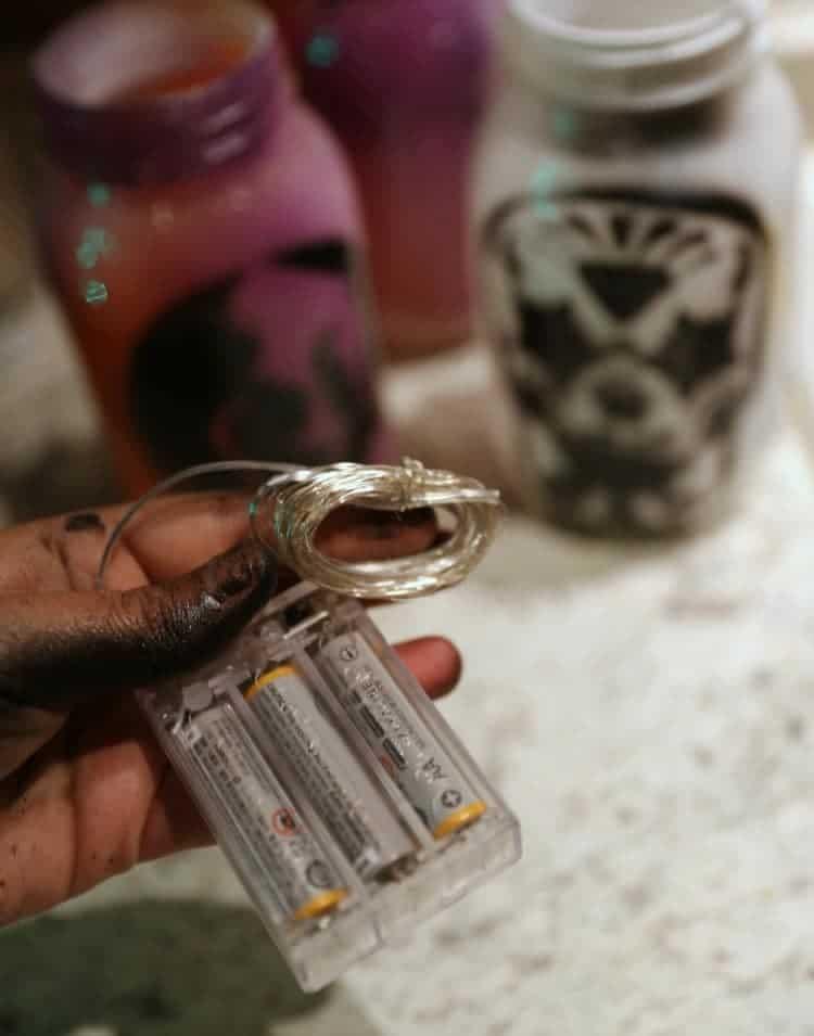 DIY Day of the Dead Mason Jar Lanterns