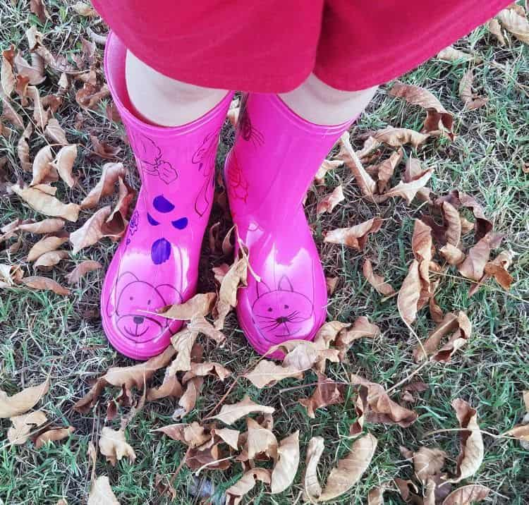 DIY Decorated Rain Boots