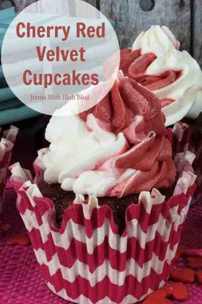 Cherry Vanilla Red Velvet Cupcake Recipe