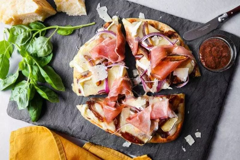Flatbread Pizza with Stone Ground Mustard