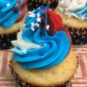 Red White and Blue Patriotic Cupcakes Recipe