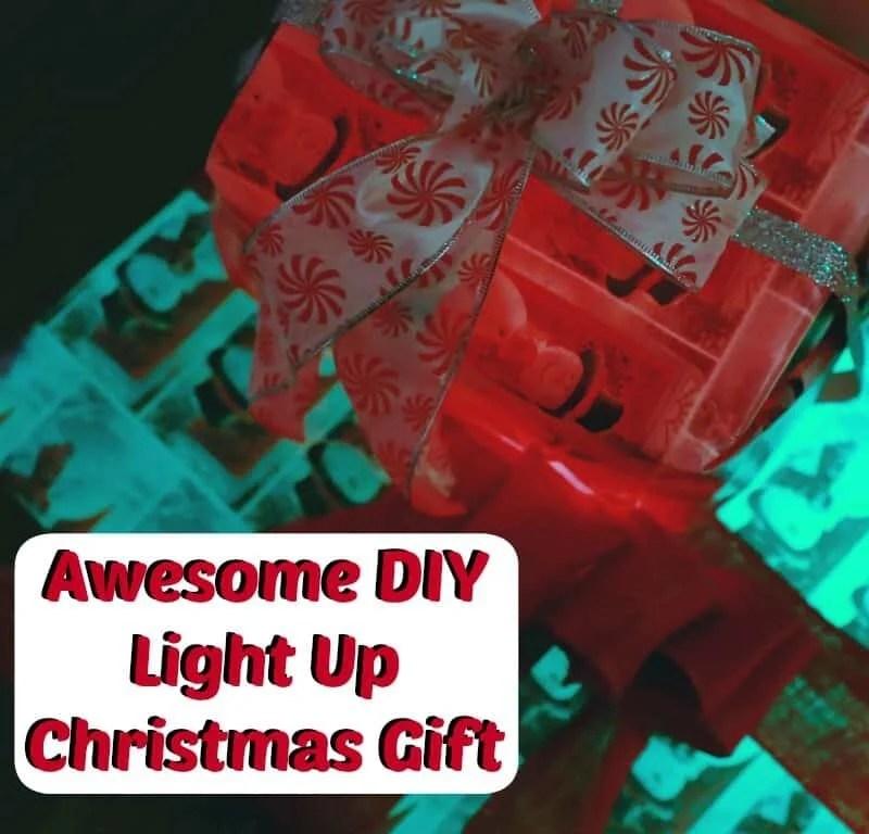 DIY Light Up Christmas Gift Decorations