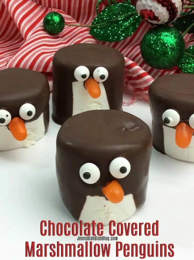 Chocolate Covered Marshmallow Penguins