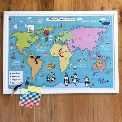 Giveaway! Enter to Win a Fun Writable World Map from Lil'ollo! Perfect Christmas Gift!