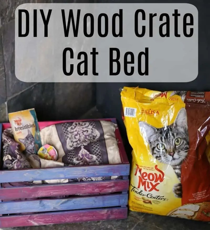 DIY Wood Crate Cat Bed