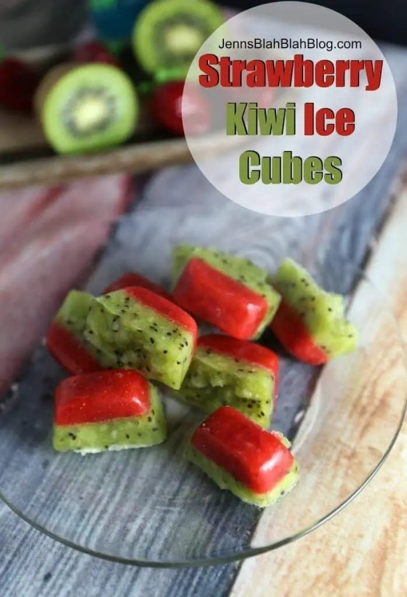 Strawberry Kiwi Ice Cubes
