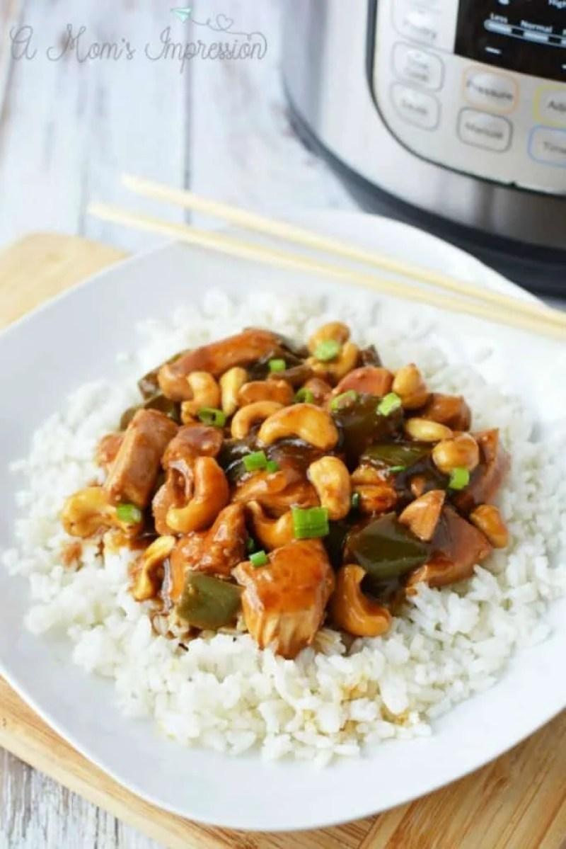 Instant Pot Cashew Chicken Recipe