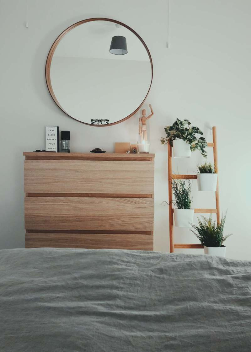 Use a mirror to dress up your borning wall