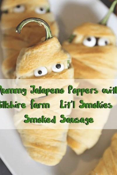 Mummy Jalapeno Poppers with Hillshire Farm® Lit'l Smokies® Smoked Sausage