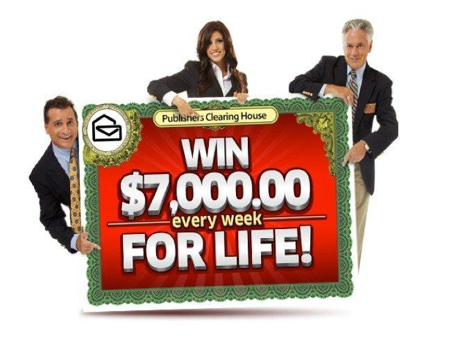 Publishers clearing house sweepstakes win 7000 a week for Publish house