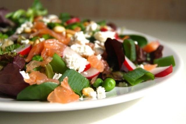 Frizze zalm salade