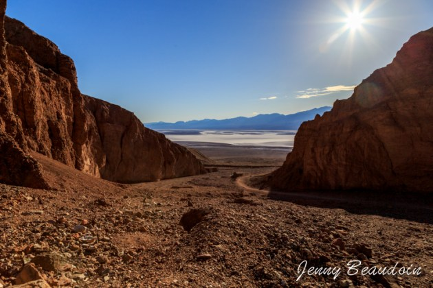 view of Badwater from the trail