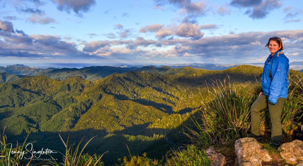 Me at the top of Castle Rock, Coromandel, New Zealand