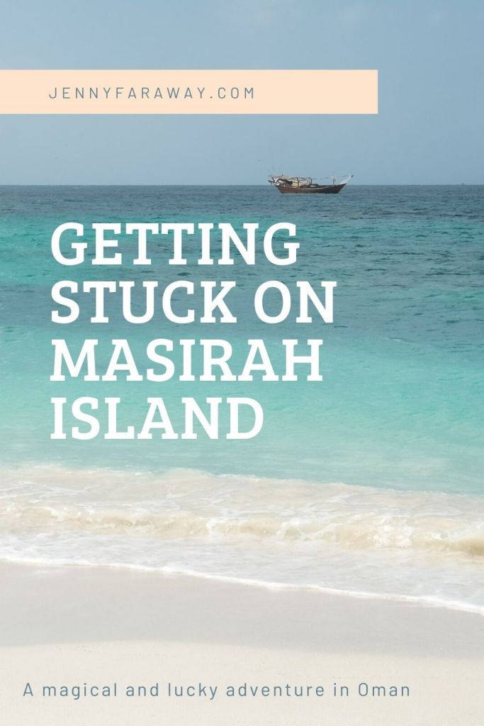 A Pinterest Graphic for a post about Masirah Island, Oman