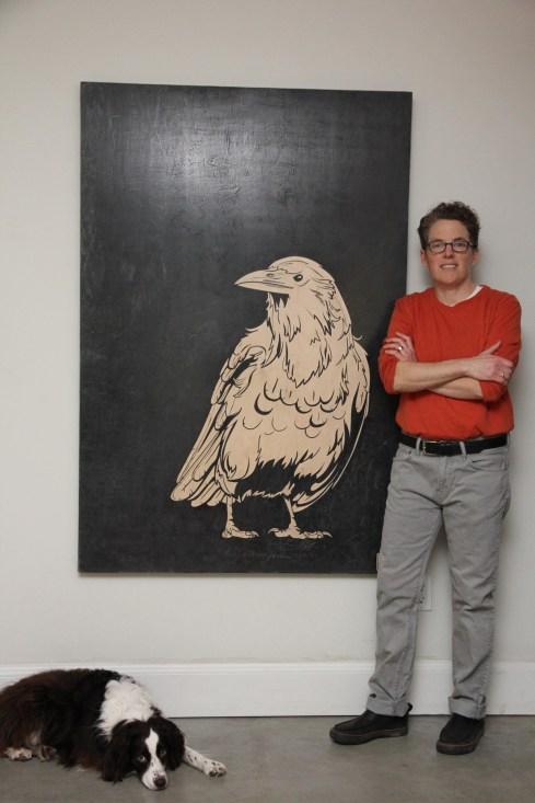 White raven and me