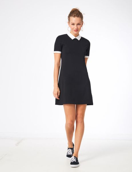 dresses     Jennyfer Black dress with white collar detail