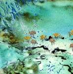 Jenny Gore Enamel 'Lake Eyre Series'