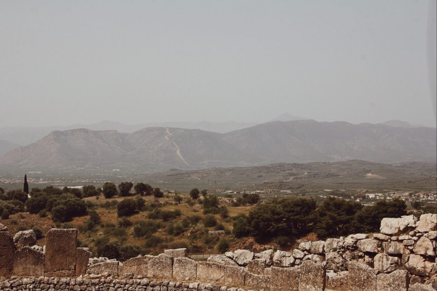 Can you see King Agamemnon's profile in the mountains?!