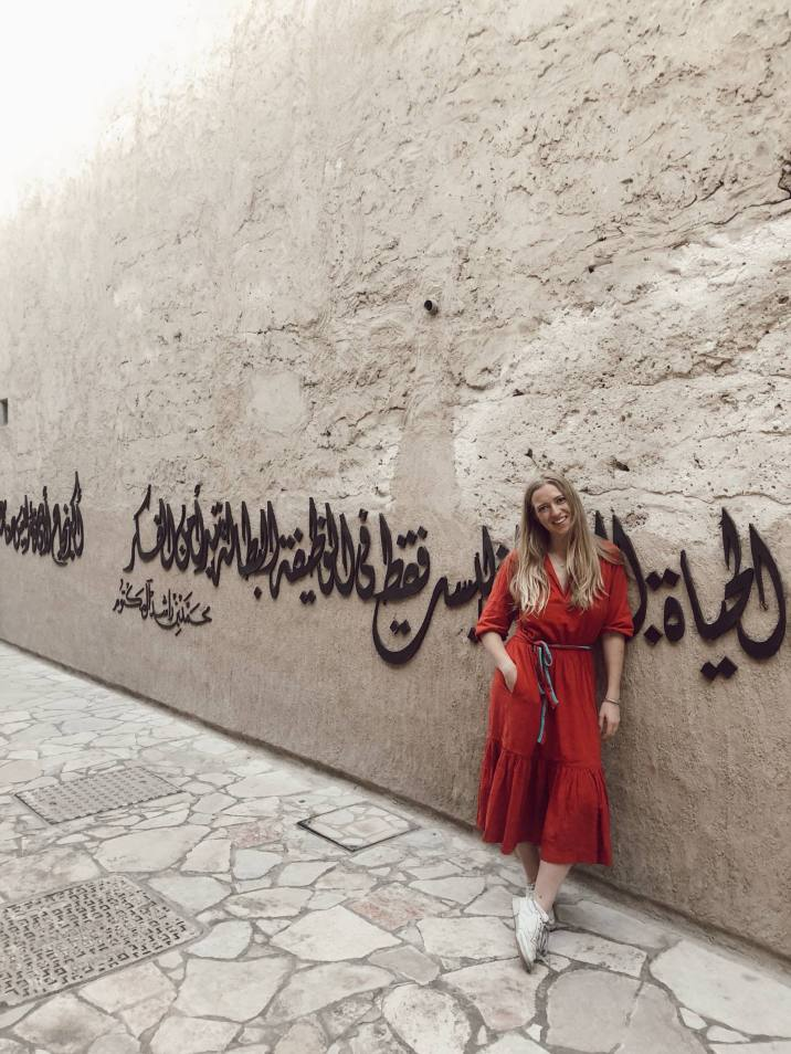 Exploring the old part of Dubai.