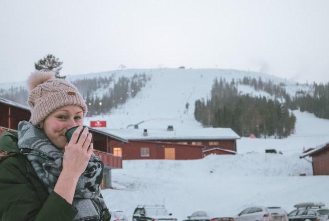 Snö och pulka