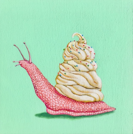 Pink Sweet Snail With Sprinkles