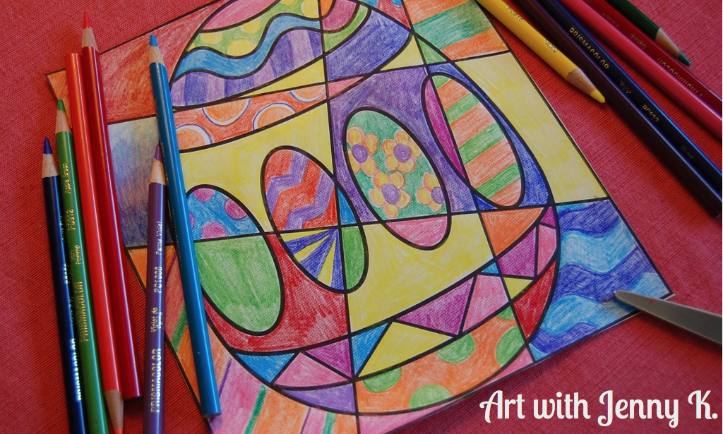 VideoEaster Coloring Sheets Art With Jenny K