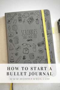 Momma Wren | How to Start a Bullet Journal