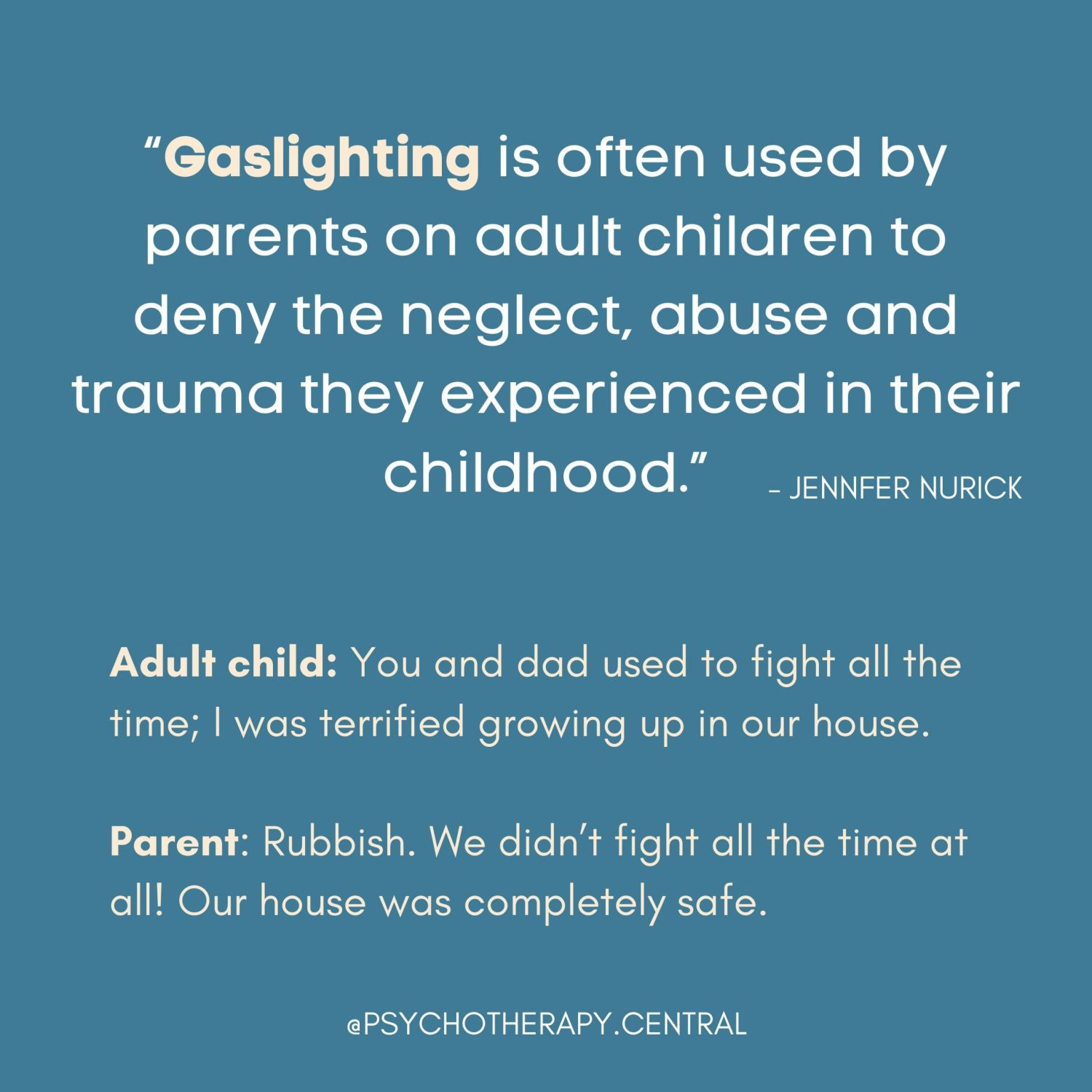 Gaslighting By Parents