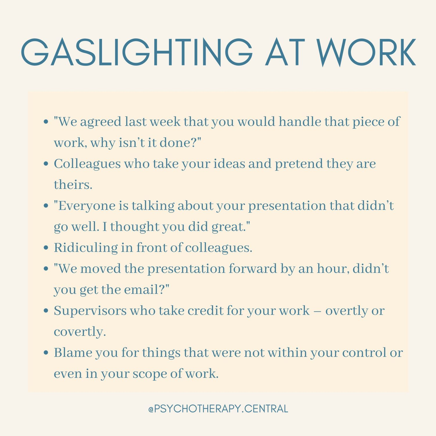 gaslighting At Work