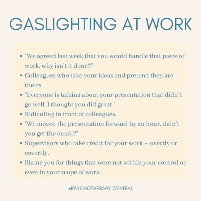 gaslighting At Work