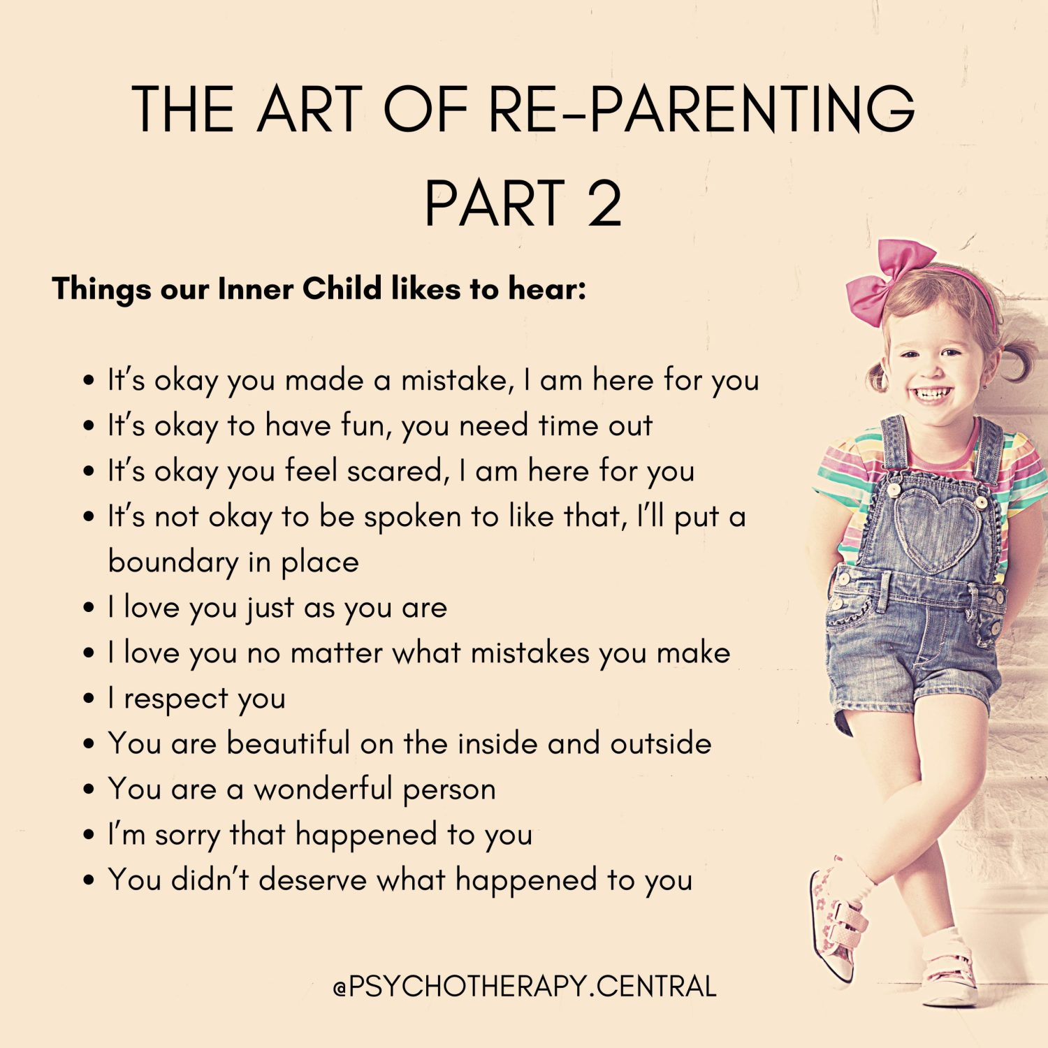 The Art of Re-Parenting